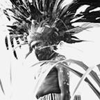 Wahgi Valley man dressed in full bird-of-paradise costume