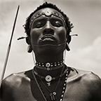 Masai Warrior Initiate with Spear, Kenya, 1985