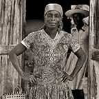 Woman in Granary, Haiti, 1984
