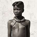 Himba Girl with Ochre Braids, Kaokoland, Namibia, 2007