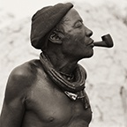 Himba Headman with Pipe, Kaokoland, Namibia, 2007