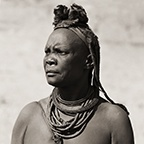 Himba Woman with Cowhide Headdress, Kaokoland, Namibia, 2007