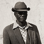 Herero Husband with Striped Jacket, Kaokoland, Namibia, 2007 Triptych III
