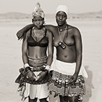 Ovazemba Girls with Toy Cell Phone, Opuwo, Namibia, 2007