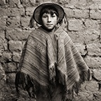 Quechua Boy with Hand Woven Poncho, Andes, Peru, 2006, Triptych III