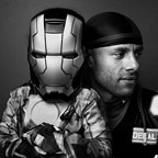 "Rene Ortiz, SR & Rene Ortiz, JR as ""Iron Man"""