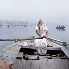 Vijay Nund on Ganges River