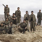Kurdistan Worker's Party (PKK) Guerrillas Pose Near Makhmour Trench Position
