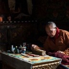 Monk Performing Puja