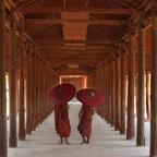 Two Parasols, Myanmar