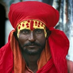 Red Sadhu, India
