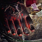 Buddha's Foot with Offerings