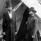 President Lincoln at Antietam - 1862