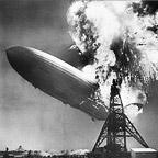 Hindenburg Explodes in Lakehurst, NJ, 1937