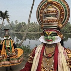 Kathakali Performance Mask, Kerala, India