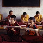 Young Monks Chanting Scripture