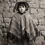 Quechua Boy with Hand Woven Poncho, Andes, Peru, 2006, Triptych III<br />