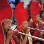 Four Lamas Blowing Horns, Tiji Festival, Lo Montang