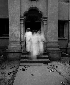 Nuns Exiting Shrine