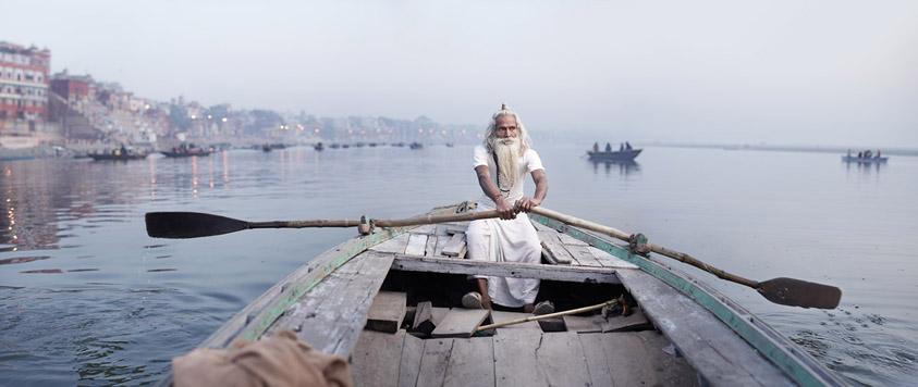 Vijay Nund on Ganges River