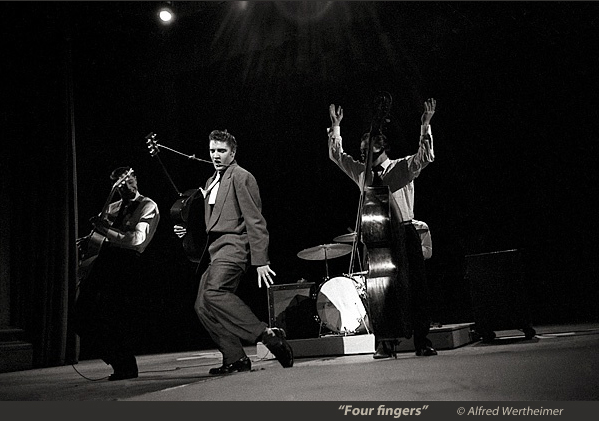 Elvis Presley performing by Al Wertheimer