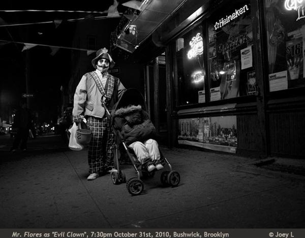 """""""Mr. Flores as Evil Clown"""" Joey L photograph"""