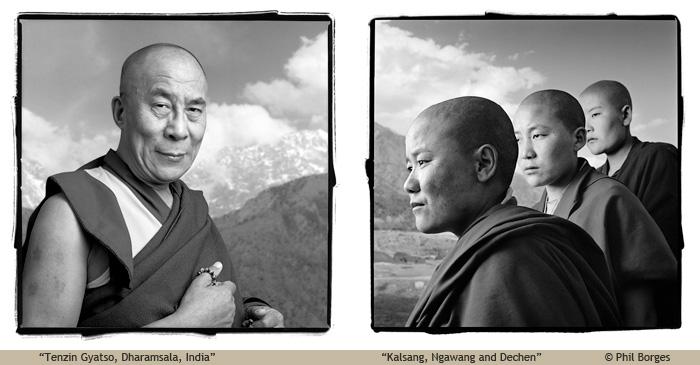 """""""Dalai Lama"""" and """"Kalsang, Ngawang & Dechen"""" by Phil Borges"""
