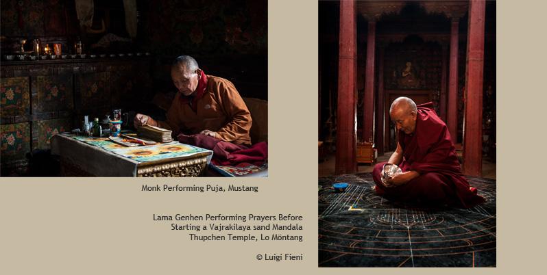 Tibetan Mustang Lamas photographs by Luigi Fieni